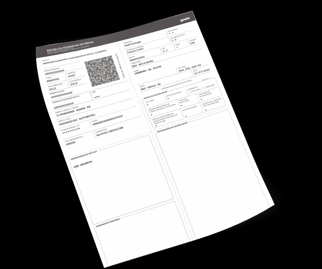 Como imprimir CRLV 2021 - app Gringo
