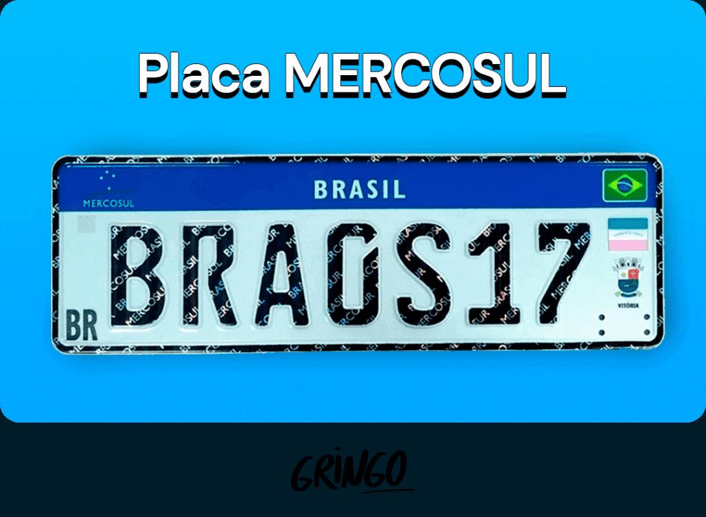 Placa Mercosul - exemplo de placa
