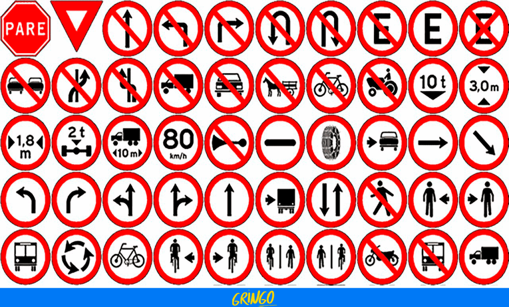 Placas de trânsito - Simulado Detran PR